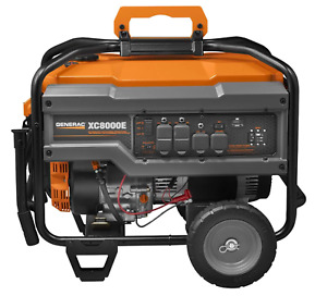 Electric Start Commercial Portable Generator Generac Xc8000e 8000 Watt 6826 New