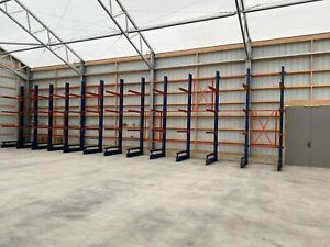 12 Tall Cantilever Racking Structural 4 X 8 Post W base 3 Arms 3 Tower Set