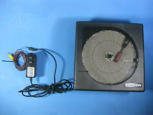 Dickson Temperature Chart Recorder W Power Adapter Probe Kt621 Used