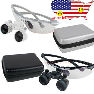 2 5x420mm Dental Surgical Magnifer Magnifying Binocular Loupes Carry Case Loupe