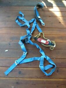 Rose Mfg Co Full Body Safety Harness Belt And Rope