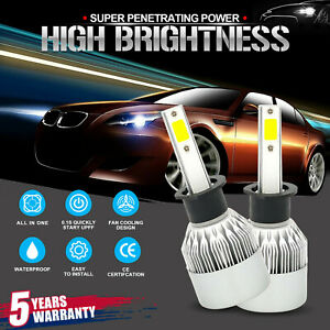 H1 1800w 270000lm White Cree Led Car Headlight Kit High Low Beam Conversion Bulb