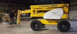 Nifty Sp53 53 Articulating 4wd Diesel Boom Man Lift 59 Working Height