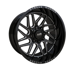 20 Xm Off Road Wheels Black Milled 6x135 6x139 7 Chevy 1500 Tahoe Ford F 150