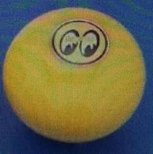 Mooneyes Original Universal Shifter Knobs Feature The Moon Eyes Logo In Yellow