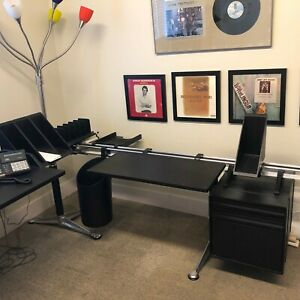 Herman Miller Office Executive Desk Burdick Contemporary With Table