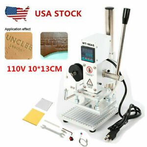 1013cm Digital Hot Foil Stamping Machine Leather Press Logo Printing Bronzing