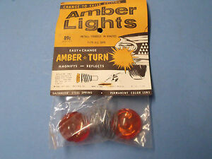 40s 50s 60s Front Turn Park Lamp Amber Modification Lenses Jeep Ford Chevrolet