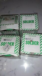 Standard Wire Solder Lot Of 4 1 Lb Each New York Solder Co Old Stock