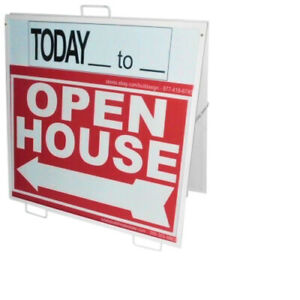 Open House Sign Metal Frame 3 Pack Kit