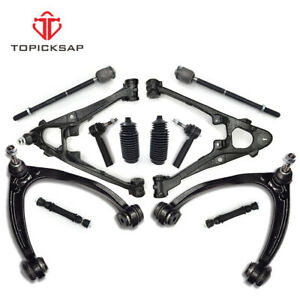 12 Front Upper Lower Control Arm Tierod Kit For Chevy Silverado Gmc Sierra 1500