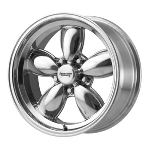 4 17 Vn504 Staggered 17x7 17x8 Classic Polished Rims Wheels 5 Lug 5x4 5