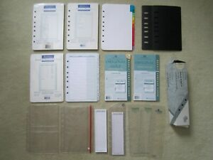 Franklin Planner Misc Lot Lined Pages Tabs Hole Punch Sheet Savers Refills