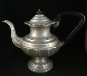 Antique American Armitages Standish Pewter Teapot 2nd Qtr 19th C 10 1 8 T