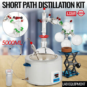 Short Path Distillation Kit With 5000ml Heating Mantle 24 40 Essential Oil Steam