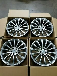 Set Of 4 Staggered Amg Style 14 Spoke Rims 19x8 5j And 19x9 5j