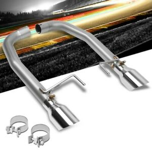 Rear Axle back Exhaust System Kit 4 Tip For 15 17 Ford Mustang 5 0l