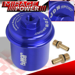 Jdm Sport Anodized Blue High Flow Turbo Fuel Filter Civic Integra Accord Crx