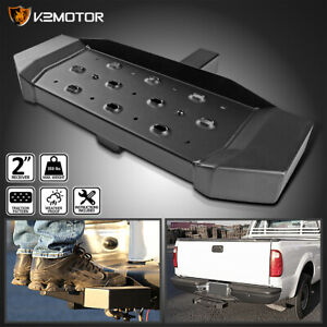 For 2 Receiver Tow Trailer Rear Bumper Heavy Duty Aluminum Hitch Step Bar Board