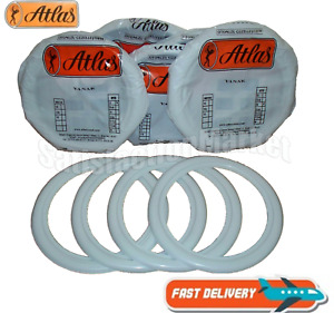 Atlas 16 White Tire Wall Portawall Insert Trim Set 4pcs