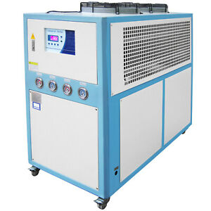 10 Ton Air cooled Industrial Chiller 30kw Lcd 145l Water Tank Stainless Steel