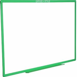 Large Magnetic Dry Erase Board Wall Mounted 24x36 Inches Green By Office Style
