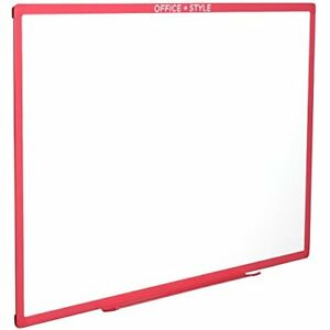 Large Magnetic Dry Erase Board Wall Mounted 24x36 Pink By Office Style