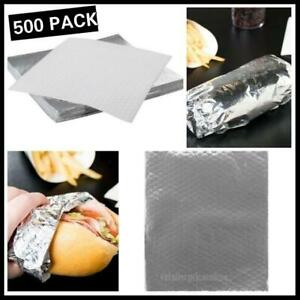 500 Pack Restaurant Insulated Foil Sandwich Wrap Sheets 14 X 16