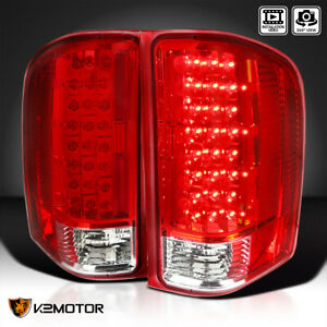 For 2007 2014 Chevy Silverado 1500 2500 3500 Rear Led Tail Lights Left Right