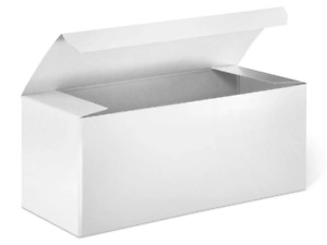 10 White Gloss Boxes 7 3 3 Gift Retail Shipping Packaging Lightweight Cardboard