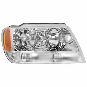 Headlight For 1999 2004 Jeep Grand Cherokee Limited Right Chrome Interior