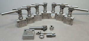 Lot Of 8 Autoclave Engineers Ball Valve Mawp 10000 Psi rt Cat 301c 0338er1284