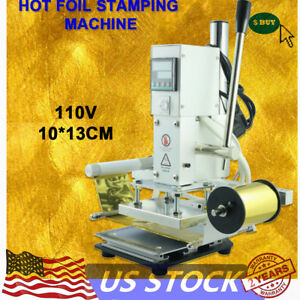 Digital Manual Hot Foil Stamping Machine Leather Pvc Card Embossing Printer 300w