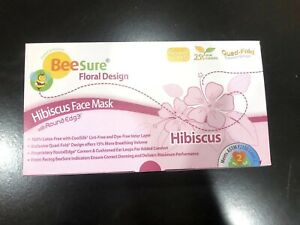 50 Pc Beesure Hibiscus Floral Surgical Medical Dental Face Mask Astm Level 2