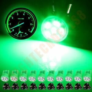 10x T10 194 168 2825 Twist Lock Wedge Socket Green Led Interior Light Bulb