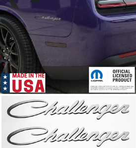 Pair Polished Stainless Emblems For Challenger Custom Badge Decal Nameplate