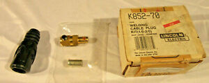New Lincoln K852 70 Welding Cable Plug 1 0 To 2 0 Cable 350 Amp Invertec Welders