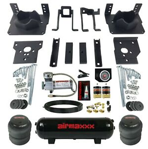 Air Bag Tow Kit Black Controls Compressor Tank For 2011 16 Ford F250 F350 2wd