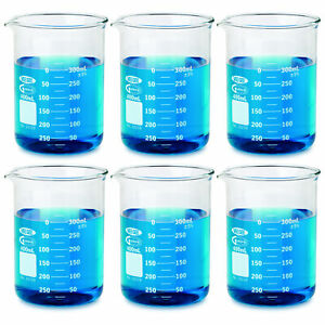 6 Pack Borosilicate Glass Griffin 600 Ml Low Form Beaker