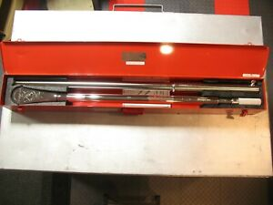Snap On Qd5r1000e 1 Drive Sae Torque Wrench Adjustable Fixed Rachet Steel Case