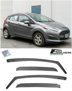 Eos For 11 19 Ford Fiesta Hatchback In Channel Side Window Visors Rain Guards