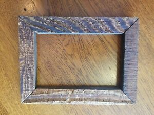 Old Vintage Primitive Rustic Wood Frame Holds 4 X 6 1 4