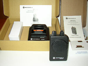 New Motorola Minitor V 5 Low Band Pager 37 41 Mhz Stored Voice 2 channel