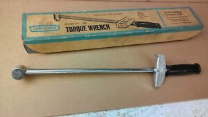Vintage Craftsman Usa Crown Logo 1 2 Drive Beam Type Torque Wrench 44641 W Box