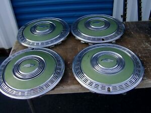 Vintage Chevrolet Hub Caps 1970 Monte Carlo 15 Nice Condition