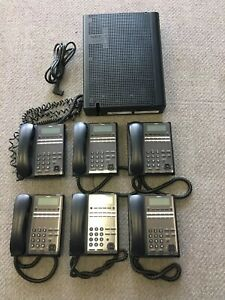 Nec Sl2100 Phone System 6 Handsets And Cpu Complete