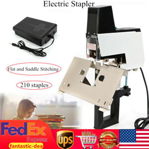 Electric Auto Stapler Book Bindiing Flat Saddle Binder Machine 2 50 Sheets Used
