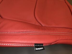 Chevy Chevrolet Camaro Convertible Red Katzkin Leather Seat Replacement Covers