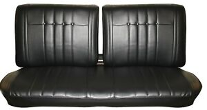 1965 Impala Standard Split Bench Seat Upholstery By Distinctive Ind In Black