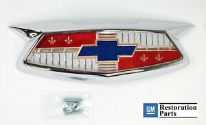 Bowtie Hood Emblem Bezel Assembly For 1954 Chevrolet Cars